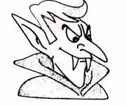 Coloring pages Vampire Dracula