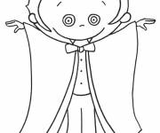 Free coloring and drawings Vampire for child Coloring page
