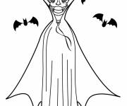 Coloring pages Vampire in color