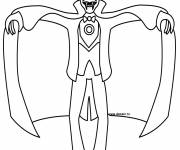 Coloring pages Very scary vampire