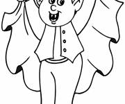 Coloring pages Young Vampire