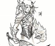 Coloring pages Cartoon warrior