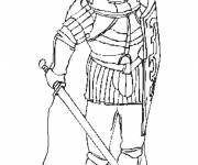 Coloring pages Knight with a sword