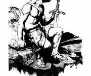 Coloring pages Roman warrior