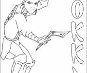 Coloring pages Sokka the warrior