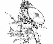 Coloring pages Viking Warrior Drawing