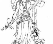 Coloring pages warrior