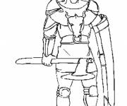 Coloring pages Warrior to download