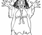 Coloring pages Witch and dark magic