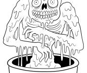 Coloring pages Adult zombie