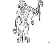Coloring pages Ax zombie