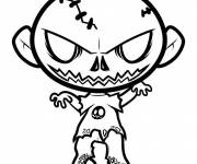 Coloring pages Baby zombie
