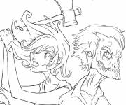 Coloring pages Easy zombie