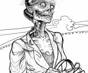 Coloring pages Fun zombie