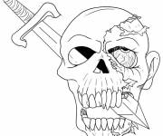 Coloring pages Halloween skull