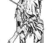 Coloring pages Realistic zombie