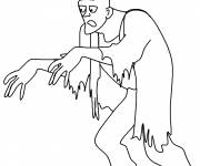 Coloring pages Zombie outfit