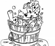 Coloring pages Freckles in the shower