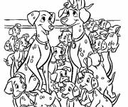 Free coloring and drawings Little Dalmatians Coloring page