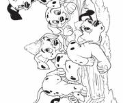 Free coloring and drawings The adorable little Dalmatians Coloring page