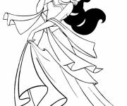 Coloring pages Jasmine drawing