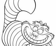 Coloring pages Alice in Wonderland in black and white