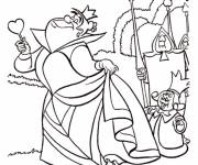 Coloring pages Alice in Wonderland: The Queen of Hearts