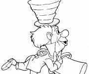 Coloring pages Alice: Toque Hatter