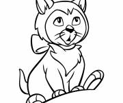 Coloring pages Dinah: Alice in Wonderland