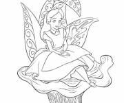 Coloring pages the lovely Alice in Wonderland
