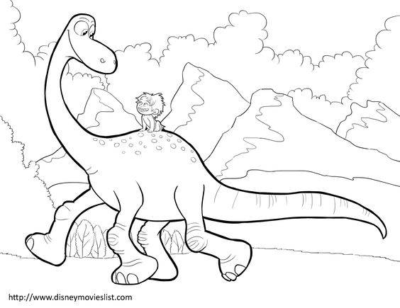 Free coloring and drawings Arlo et Spot walking Coloring page