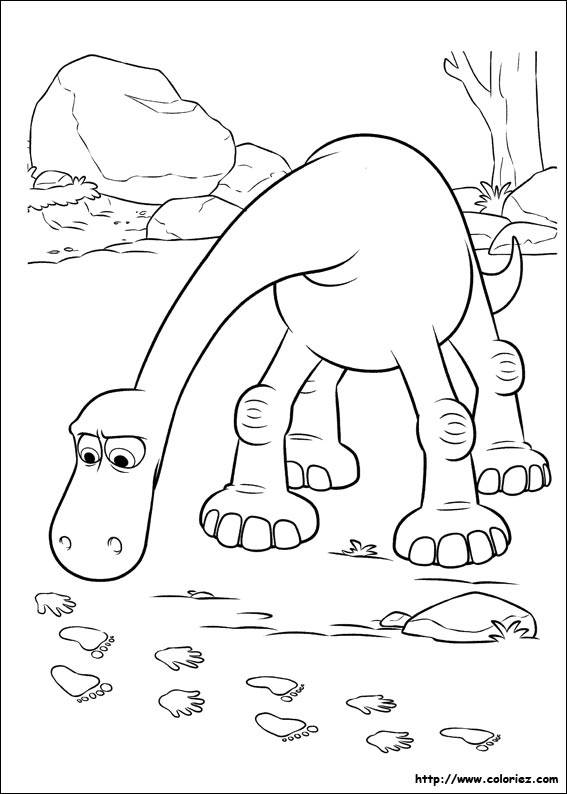 Free coloring and drawings Arlo follows the traces Coloring page