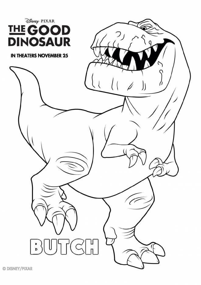 Free coloring and drawings Butch in the right dinosaur Coloring page