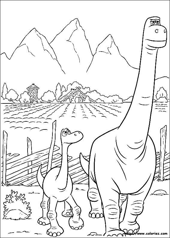 Free coloring and drawings Henry the father of Arlo Coloring page