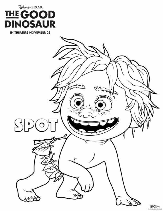 Free coloring and drawings Spot in the right dinosaur Coloring page