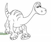 Coloring pages The good Disney dinosaur