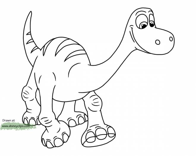 Free coloring and drawings The good Disney dinosaur Coloring page