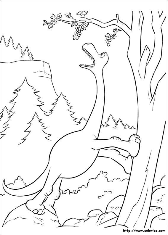 Free coloring and drawings The good humorous dinosaur Coloring page
