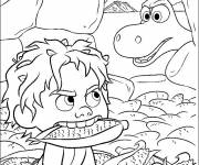 Free coloring and drawings The good Spot dinosaur steals Arlo's corn Coloring page