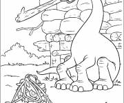 Free coloring and drawings The right color dinosaur Coloring page