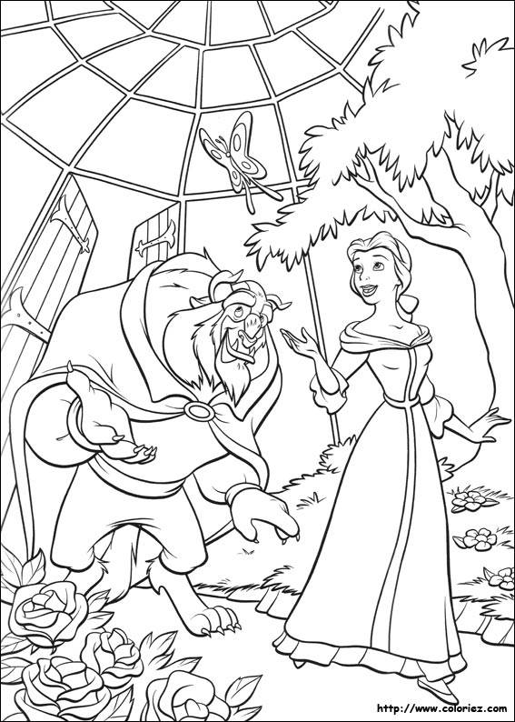 Free coloring and drawings Beauty and the Beast in the Nursery Coloring page