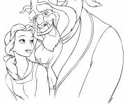 Coloring pages Beauty and the beast lovers