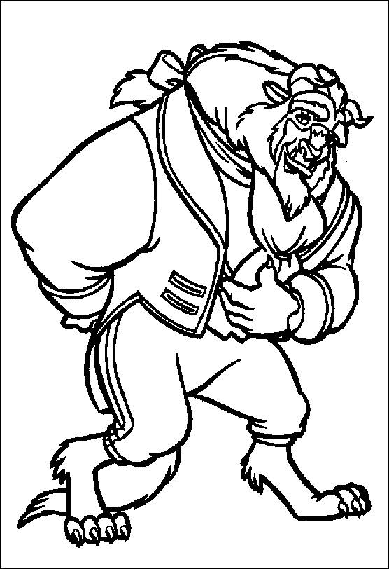Free coloring and drawings Beauty and the Beast walt disney Coloring page