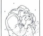 Coloring pages Beauty and the transformed beast