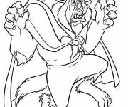 Coloring pages The beast is surprised
