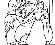 Coloring pages The beast prepares a surprise for Beauty