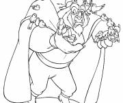 Coloring pages The beast surrounded by birds