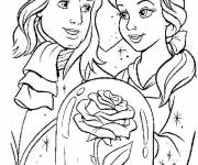 Coloring pages The beautiful with her prince