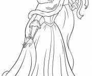 Coloring pages The beauty bends a ribbon