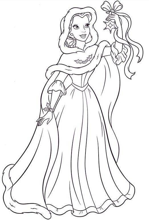 Free coloring and drawings The beauty bends a ribbon Coloring page